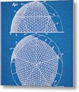 1954 Geodesic Dome Blueprint Patent Print Metal Print