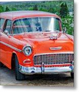 1955 Chevrolet Bel Air Nomad Metal Print