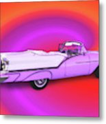 1957 Oldsmobile 98 Starfire Metal Print