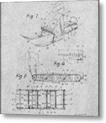 1960 Bombardier Snowmobile Gray Patent Print Metal Print