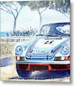 1973 Targa Floria Porsche 911 Carrera Rsr Martini Racing Lennep Muller Winner  Metal Print