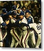 1986 World Series Mets Metal Print