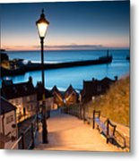 199 Steps Of  Whitby In The  North Metal Print