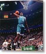 1992 Slam Dunk Contest Larry Johnson Metal Print
