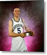 1995 Nba Rookie Of The Year - Jason Kidd Metal Print