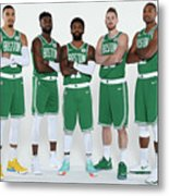 2018-19 Boston Celtics Media Day Metal Print