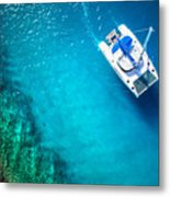 Amazing View To Yacht Sailing In Open Metal Print