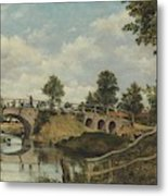 An Old Bridge At Hendon  Middlesex  Metal Print