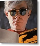 Andy Warhol In New York, United States Metal Print