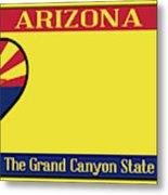 Arizona State License Plate Metal Print