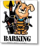 Barking Spider Halloween Design For Dog Lovers Light Metal Print