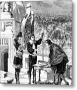 Blaise Pascal, 17th Century French Metal Print