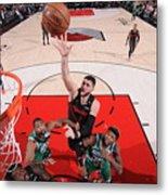 Boston Celtics V Portland Trail Blazers Metal Print