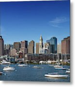 Boston Skyline North End And Financial District Metal Print