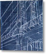 Bridge Blueprint I Metal Print