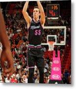Brooklyn Nets V Miami Heat Metal Print