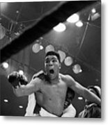 Cassius Clay After Winning Championship Metal Print