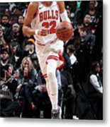 Chicago Bulls V Brooklyn Nets Metal Print