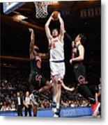 Chicago Bulls V New York Knicks Metal Print