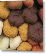 Colored Yarn Metal Print