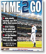 Daily News Back Page Derek Jeter Metal Print
