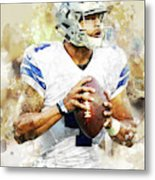 Dallas Cowboys.dak Prescott. Metal Print