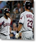 Divisional Round - Cleveland Indians V Metal Print