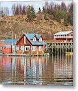 Halibut Cove Kenai Peninsula Alaska Metal Print