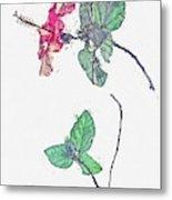Hibiscus 2 -  Watercolor By Ahmet Asar Metal Print