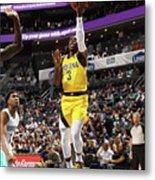 Indiana Pacers V Charlotte Hornets Metal Print