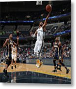 Indiana Pacers V Memphis Grizzlies Metal Print