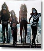 Kiss Portrait Session In La Metal Print
