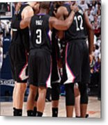 Los Angeles Clippers V Utah Jazz - Game Metal Print