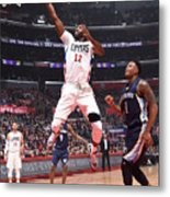 Memphis Grizzlies V Los Angeles Clippers Metal Print