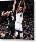 Minnesota Timberwolves V Brooklyn Nets Metal Print