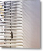 Modern Window Blind Metal Print