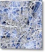 Munich Germany City Map Metal Print