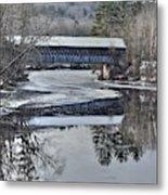 New England College Covered Bridge Metal Print