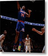 New York Knicks V Denver Nuggets Metal Print