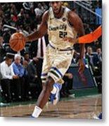 New York Knicks V Milwaukee Bucks Metal Print