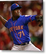 New York Mets V St. Louis Cardinals Metal Print