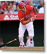 New York Yankees V Los Angeles Angels 2 Metal Print
