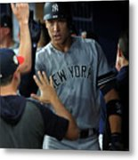 New York Yankees V Tampa Bay Rays 2 Metal Print