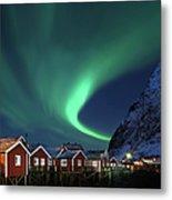 Northern Lights - Aurora Borealis Over Metal Print