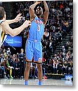 Oklahoma City Thunder V Utah Jazz Metal Print