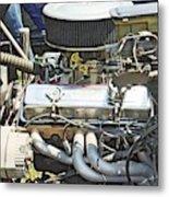 Old Car Engine Metal Print