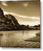 On The Rio Grande River Metal Print