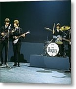 Photo Of Beatles Metal Print
