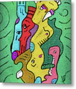 Psychedelic Animals Metal Print
