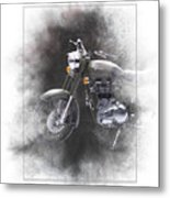 Royal Enfield Classic 500 Painting Metal Print